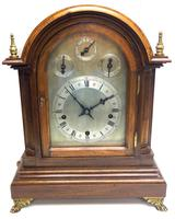 Mahogany & Bevelled Glass W&H Mantel Clock Dual Chiming Musical Bracket Clock Chiming on 9 Coiled Gongs (2 of 17)