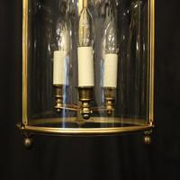 French Bronze Triple Light Antique Lantern (6 of 10)