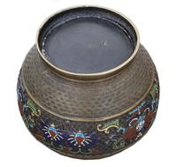 Chinese bronze cloisonne planter bowl Late 19th Century (3 of 7)