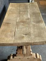 Rustic French Bleached Oak Farmhouse Dining Table (6 of 15)