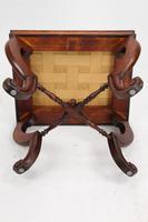 Antique Victorian Walnut Framed Stool (6 of 9)