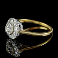 Antique Edwardian Old Cut Diamond Cluster Ring 18ct Gold 1.65ct Of Diamond Circa 1901 (6 of 6)