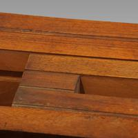 Edwardian mahogany circular extending dining table (12 of 14)