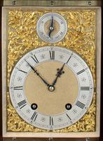 Fine quality burr walnut bracket clock by Lenzkirch of Germany, with a quarter chiming movement c.1903 (13 of 14)