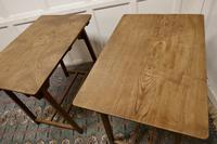 Pair of Arts & Crafts Elm Tables (6 of 8)