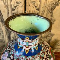 19th Century Japanese Cloisonné Vase (3 of 4)