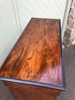 Antique Inlaid Walnut Display Cabinet (4 of 10)