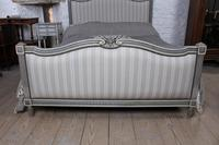 Beautiful Newly Upholstered King Size French Louis XVI Style Bed (4 of 11)