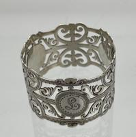 Early 20th Century Antique Edwardian Sterling Silver Set Six Napkin Rings London 1906 George Maudsley Jackson & David Fullerton (5 of 7)