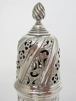 Large Victorian Embossed Silver Sugar Caster with a Detachable Lid (3 of 7)