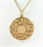 World War I Era Hallmarked Gold Locket 1915 on 17 Inch Chain (2 of 11)