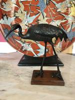 Antique Pair of Japanese Bronze Metal Crane Sculptures (6 of 12)