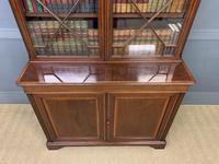 Good Edwardian Inlaid Mahogany Bookcase (6 of 16)