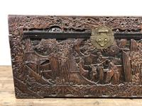 Carved Oriental Camphorwood Chest or Trunk (10 of 13)