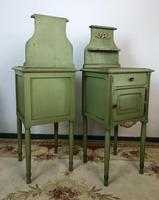 Antique French Painted Bedside Tables Pot Cupboards Original Paint (3 of 13)