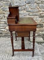 Antique Rosewood Inlaid Writing Desk (16 of 19)