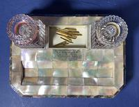 Victorian Mother of Pearl & Abalone Inkstand (13 of 15)