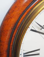 Rare Antique Drop Dial Wall Clock 8 Day Single Fusee Movement (9 of 13)