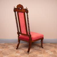 19th Century Walnut Barley Twist Prie Dieu Chair (5 of 15)