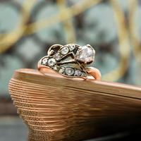 The Antique Victorian Eleven Diamond Tulip Ring (2 of 5)
