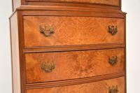 Burr Walnut Chest on Chest of Drawers c.1930 (6 of 9)