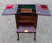 1900s Mahogany Sewing Cabinet Table (2 of 4)