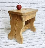Slab Sided Country Pine Stool (2 of 5)