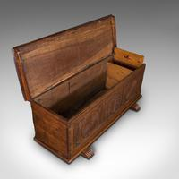 Large Antique Coffer, Italian, Walnut, Sword Chest, Linen Trunk, 18th Century (6 of 12)