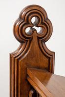 Pair of Victorian Carved Oak Pews (3 of 11)