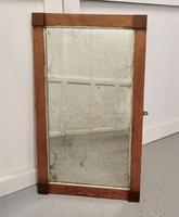 Art Deco Birds Eye Maple & Mahogany Framed Mirror (2 of 5)
