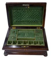 Victorian Rosewood Jewellery / Sewing Box (6 of 8)