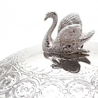 Victorian Silver Plated Butter Preserve Dish with Opeline Glass Liner (4 of 6)