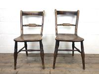Pair of 19th Century Elm Bar Back Farmhouse Chairs (2 of 7)