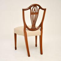 Set of 12 Antique Sheraton Style Shield Back Dining Chairs (6 of 15)