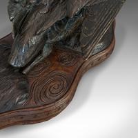 Antique, Curlew, Oriental, Bronze, Mahogany, Decorative, Small Bird c.1900 (2 of 12)