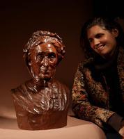 Beautiful Expressive Carved Wooden Bust of Woman, Signed B. Tuerlinckx = Boudewijn Tuerlinckx (7 of 11)