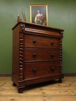 Antique Late 19th Century Mahogany Chest of Drawers, Country House Chest (12 of 15)