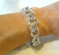 "Vintage Sterling Silver Bracelet 1950s Forstner Usa 7 1/2"" Length 38.2 Grams (4 of 11)"