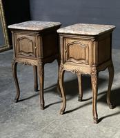 Pair of French Marble Top Bedside Cupboards (8 of 26)