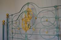 Antique Victorian Brass & Iron Bed 5ft Kingsize Bedstead Sympathetically Restored (4 of 17)