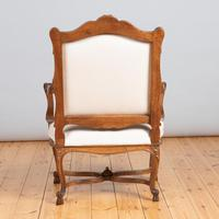 Pair of Large French Walnut & Parcel-Gilt Armchairs (10 of 10)