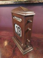 Large Antique Polished Oak Perpetual Desk Calendar (2 of 6)