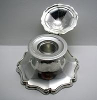 Superb Large 1915 Solid Sterling Silver Antique Capstan Inkwell, Martin Hall & Co. English Hallmarked (4 of 12)