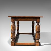 Antique Refectory Table, English, Oak, Dining, Jacobean Revival, Edwardian c.1910 (4 of 12)