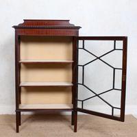 Glazed Bookcase Edwardian Astragal Display Cabinet Mahogany (10 of 11)