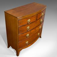 Antique Bow Front Chest of Drawers, English, Mahogany, Tallboy, Victorian, 1870 (5 of 12)