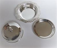 An attractive silver plated three part muffin dish (6 of 7)