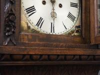 Flemish Carved Oak Grandfather Clock (5 of 13)