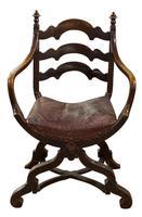 Pair of Ebonised Oak Elbow Chairs (3 of 12)