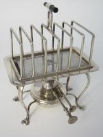 Unusual Asprey & Co Silver Plated Rectangular Toast Rack (2 of 5)